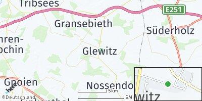 Google Map of Glewitz bei Grimmen