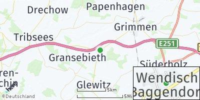 Google Map of Wendisch Baggendorf