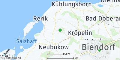 Google Map of Biendorf bei Bad Doberan
