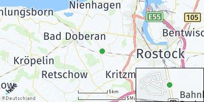 Google Map of Bartenshagen-Parkentin