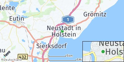 Google Map of Neustadt in Holstein