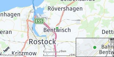 Google Map of Bentwisch bei Rostock