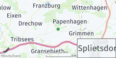 Google Map of Splietsdorf