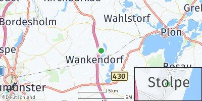 Google Map of Stolpe bei Neumünster