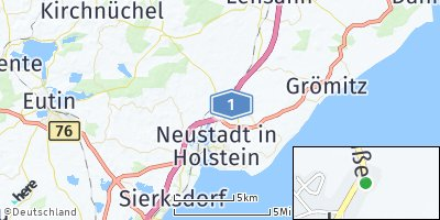 Google Map of Altenkrempe