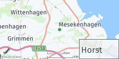Google Map of Horst bei Grimmen