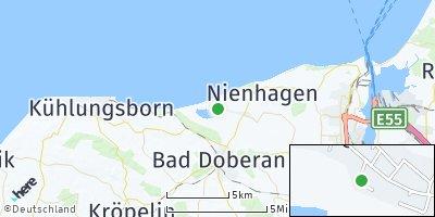 Google Map of Börgerende-Rethwisch