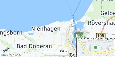 Google Map of Elmenhorst / Lichtenhagen