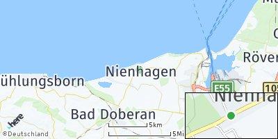 Google Map of Ostseebad Nienhagen