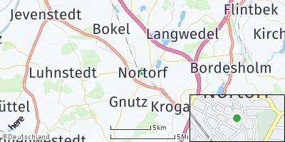 Google Map of Nortorf bei Neumünster