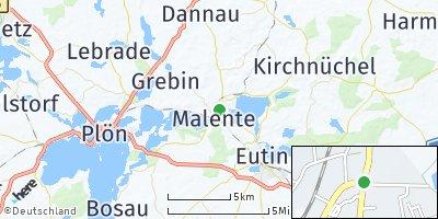 Google Map of Malente