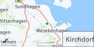 Google Map of Kirchdorf bei Grimmen