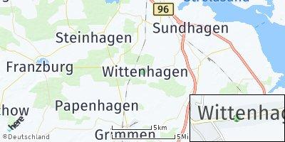 Google Map of Wittenhagen bei Grimmen