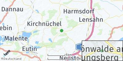 Google Map of Schönwalde am Bungsberg