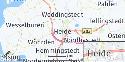 Google Map of Heide / Holstein