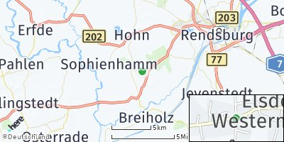 Google Map of Elsdorf-Westermühlen