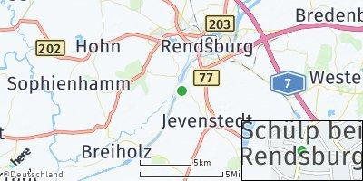 Google Map of Schülp bei Rendsburg