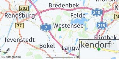 Google Map of Emkendorf bei Rendsburg