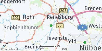 Google Map of Nübbel bei Rendsburg