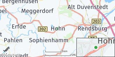 Google Map of Hohn bei Rendsburg