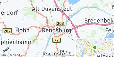 Google Map of Rendsburg