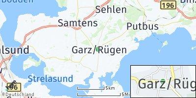 Google Map of Garz/Rügen