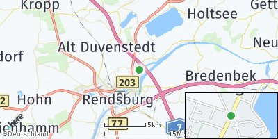 Google Map of Borgstedt bei Rendsburg
