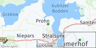 Google Map of Kramerhof bei Stralsund