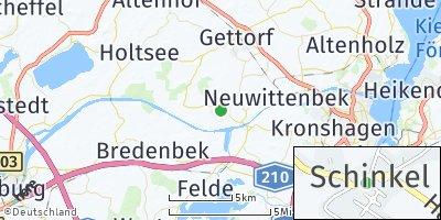Google Map of Schinkel bei Gettorf