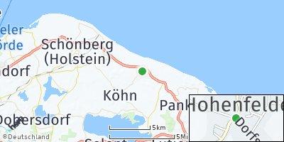 Google Map of Hohenfelde bei Kiel