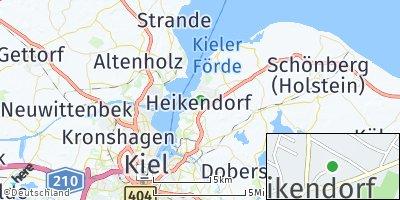 Google Map of Heikendorf