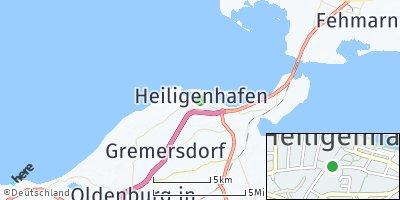 Google Map of Heiligenhafen