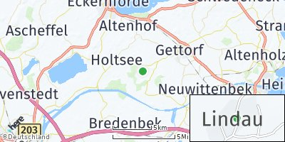 Google Map of Lindau bei Kiel