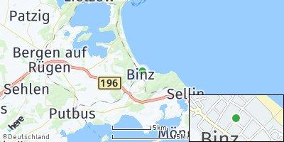 Google Map of Ostseebad Binz