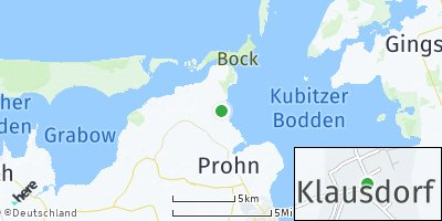Google Map of Klausdorf bei Stralsund