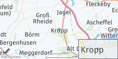Google Map of Kropp bei Schleswig