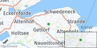 Google Map of Osdorf bei Kiel