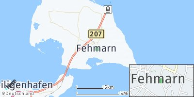Google Map of Fehmarn