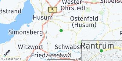 Google Map of Rantrum bei Husum