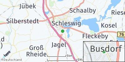 Google Map of Busdorf bei Schleswig
