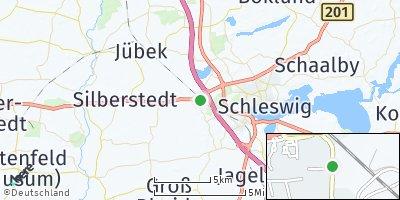 Google Map of Schuby bei Schleswig