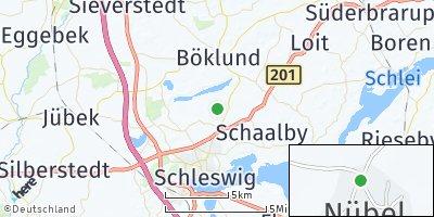 Google Map of Nübel bei Schleswig