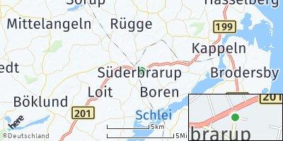 Google Map of Süderbrarup