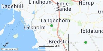 Google Map of Langenhorn bei Husum