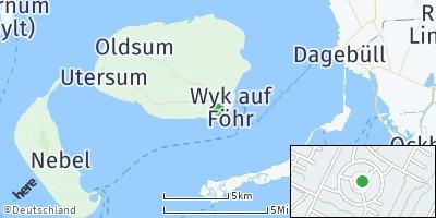 Google Map of Wyk auf Föhr