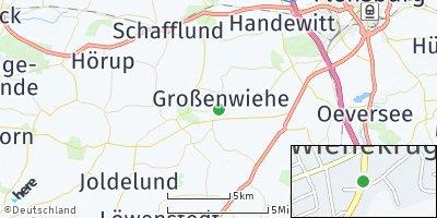 Google Map of Großenwiehe