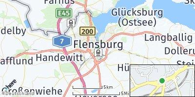 Google Map of Flensburg