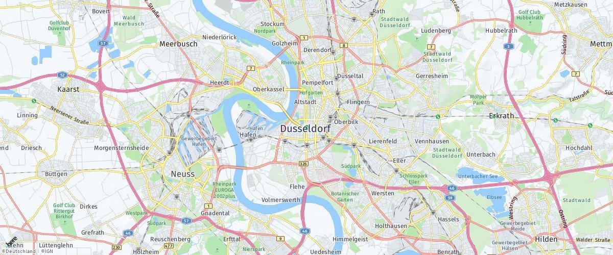 Düsseldorf auf HERE Maps