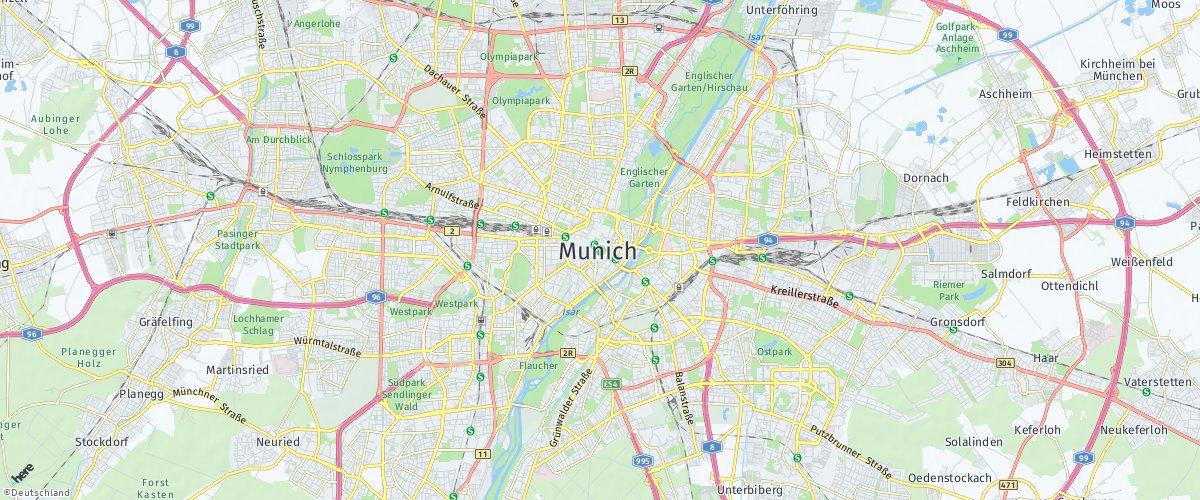 München auf HERE Maps